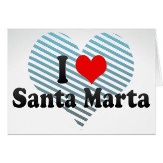 I Love Santa Marta, Colombia Greeting Cards