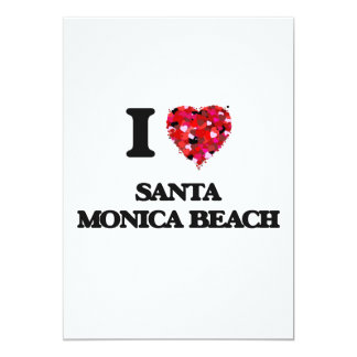 I love Santa Monica Beach Florida 5x7 Paper Invitation Card