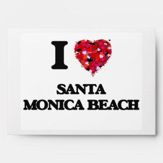 I love Santa Monica Beach Florida Envelopes