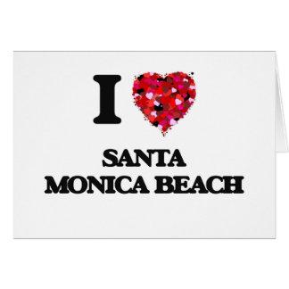 I love Santa Monica Beach Florida Greeting Card