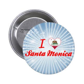 I Love Santa Monica, California Pins