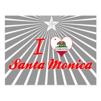 I Love Santa Monica, California Postcard