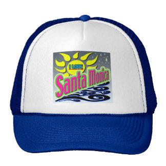 """I LOVE Santa Monica: Night Sunshine"" Hat! Trucker Hat"