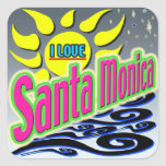 """I LOVE Santa Monica: Night Sunshine"" Sticker!"