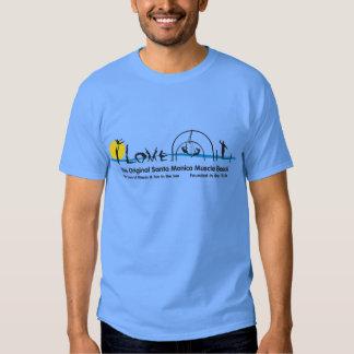 I Love Santa Monica Original Muscle Beach T-shirt