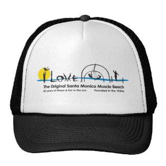I Love Santa Monica Original Muscle Beach Trucker Hat
