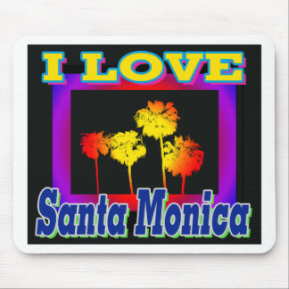 I LOVE Santa Monica Palm Trees in the Box Mouthpad Mouse Pad