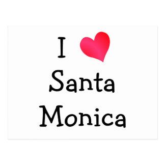 I Love Santa Monica Post Card