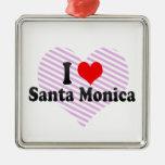 I Love Santa Monica, United States Christmas Tree Ornament