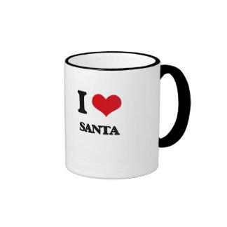 I Love Santa Ringer Coffee Mug