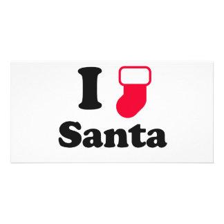 I love santa photo cards