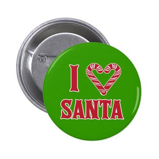 I Love Santa Pins