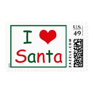 I Love Santa Postage Stamp