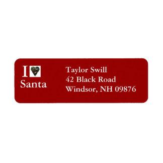 I Love Santa Return Address Label