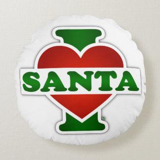 I Love Santa Round Pillow