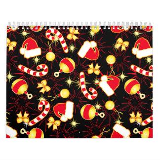 I love Santa seamless pattern black.ai Calendar