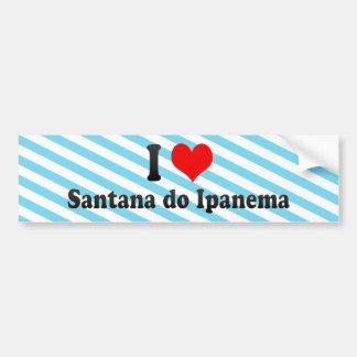 I Love Santana do Ipanema, Brazil Bumper Sticker
