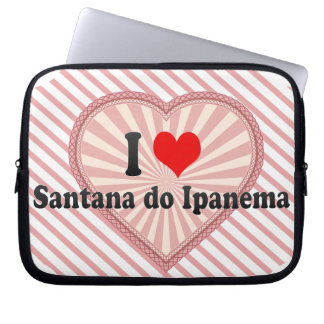I Love Santana do Ipanema, Brazil Laptop Sleeve