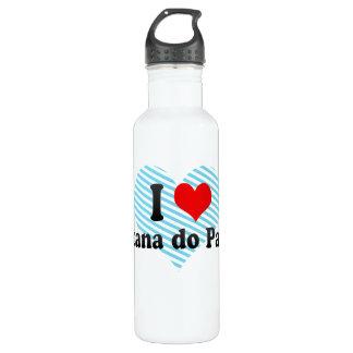 I Love Santana do Paraiso, Brazil Water Bottle