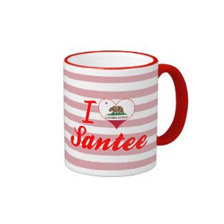 I Love Santee, California Coffee Mug