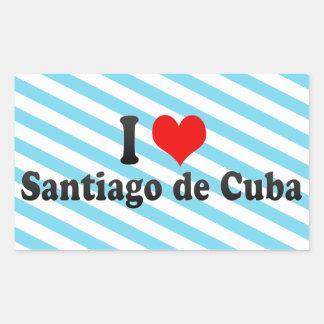 I Love Santiago de Cuba, Cuba Rectangle Stickers