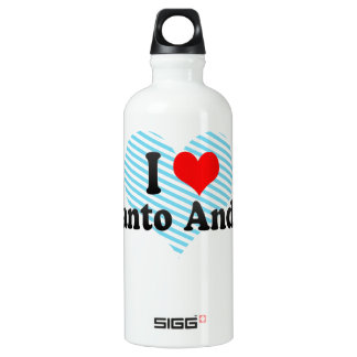 I Love Santo Andre, Brazil Aluminum Water Bottle