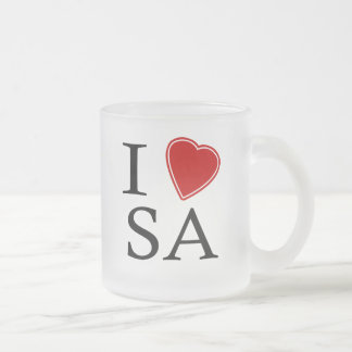 I Love Santo Andre Frosted Glass Coffee Mug