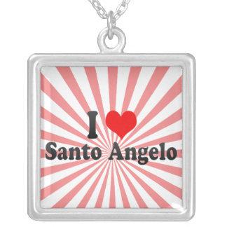 I Love Santo Angelo, Brazil Square Pendant Necklace