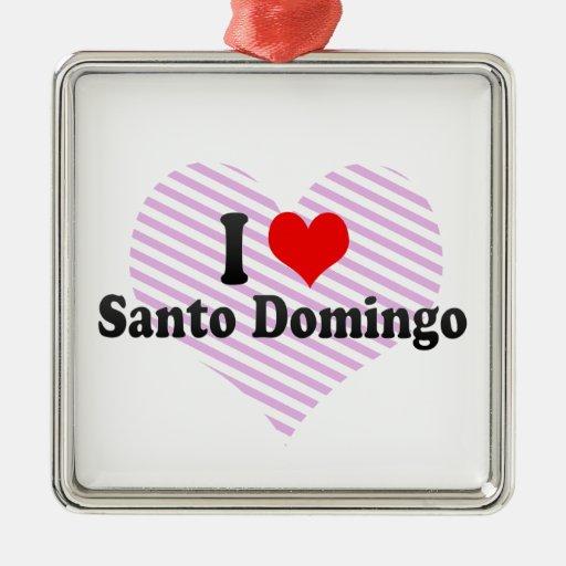 I Love Santo Domingo, Dominican Republic Christmas Ornaments