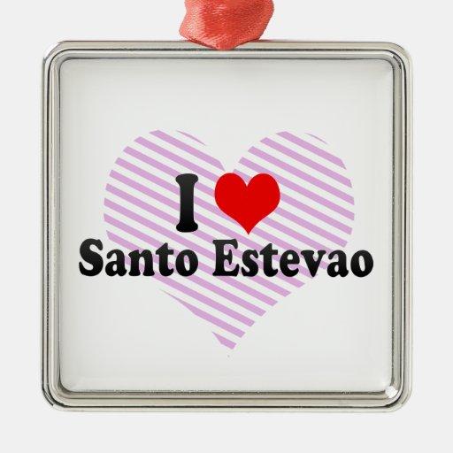 I Love Santo Estevao, Brazil Christmas Ornaments
