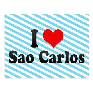I Love Sao Carlos, Brazil Postcard