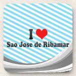 I Love Sao Jose de Ribamar, Brazil Beverage Coasters