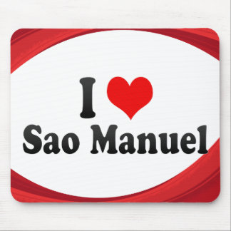 I Love Sao Manuel, Brazil Mousepads
