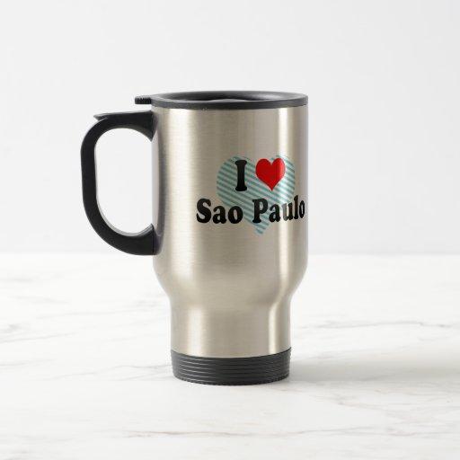 I Love Sao Paulo, Brazil 15 Oz Stainless Steel Travel Mug