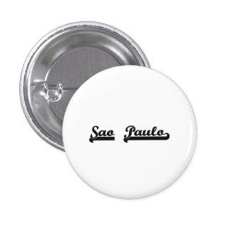 I love Sao Paulo Brazil Classic Design 1 Inch Round Button