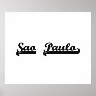 I love Sao Paulo Brazil Classic Design Poster