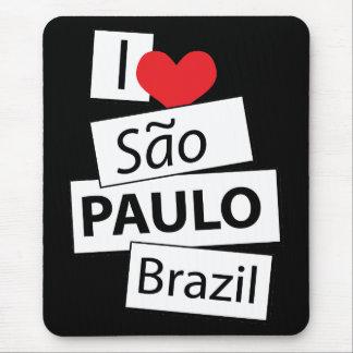 I Love Sao Paulo Brazil Mouse Pad