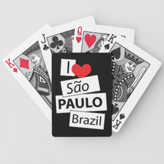 I Love Sao Paulo Brazil Bicycle Poker Deck