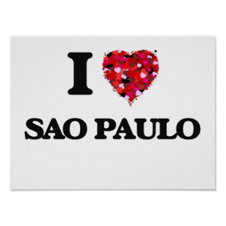 I love Sao Paulo Brazil Poster