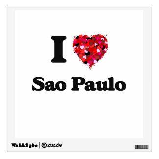 I love Sao Paulo Brazil Wall Graphics