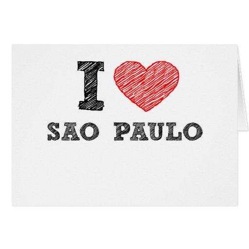 I Love Sao Paulo Greeting Cards