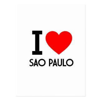 I Love Sao Paulo Postcard