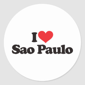 I Love Sao Paulo Stickers