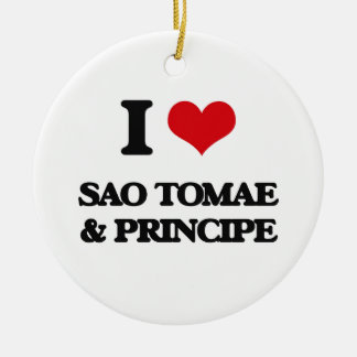 I Love Sao Tomae & Principe Christmas Ornament