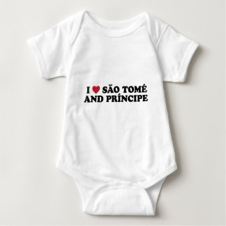 I Love São Tomé and Príncipe Baby Bodysuit