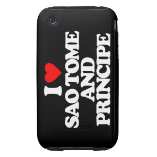 I LOVE SAO TOME AND PRINCIPE TOUGH iPhone 3 CASE