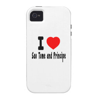 I Love Sao Tome and Principe. iPhone 4/4S Case