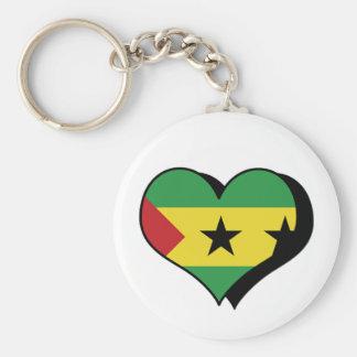 I Love Sao Tome and Principe Keychain