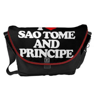 I LOVE SAO TOME AND PRINCIPE MESSENGER BAGS