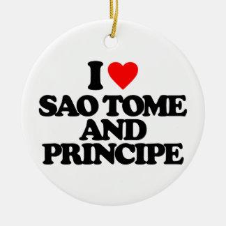 I LOVE SAO TOME AND PRINCIPE ORNAMENTS